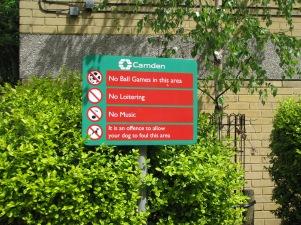Killjoy council, Camden Town, London