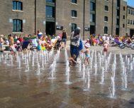 granary sq fountains